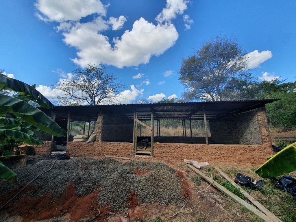 Front View of Chicken Coop Building